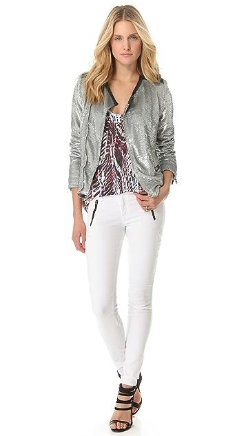 IRO Longina Sequin Moto Jacket