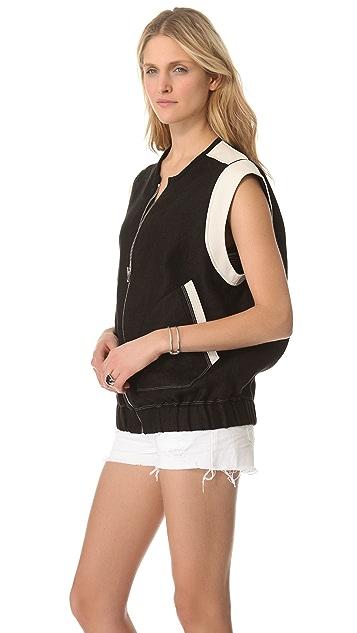 IRO Konor Vest with Leather Trim