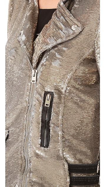 IRO Derick Sequin Moto Jacket