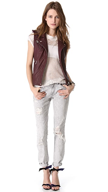 IRO Mert Leather Vest