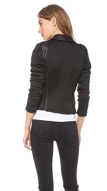 IRO Ashby Neoprene Leather Jacket