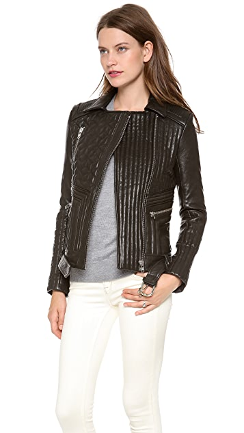 IRO Jonael Quilted Leather Moto Jacket