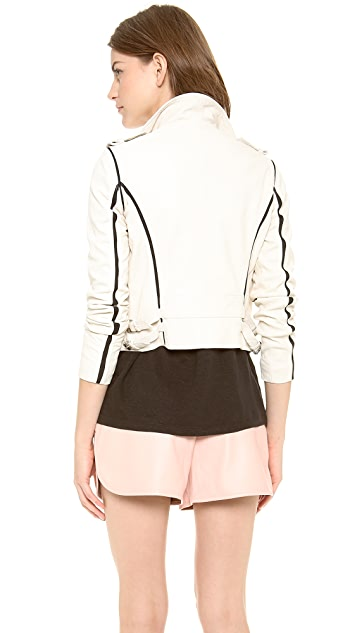 IRO Ashvie Leather Moto Jacket