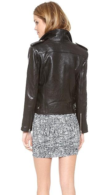 IRO Ebeyna Leather Moto Jacket