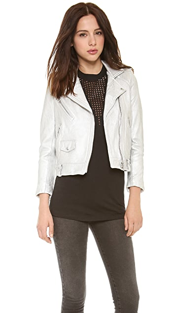 IRO Ebya Metallic Leather Jacket