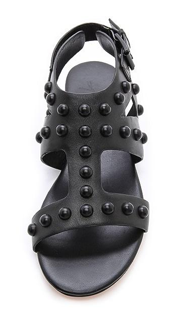 Isa Tapia Geri Studded Flat Sandals