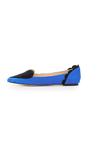 Isa Tapia Clement Suede Heart Flats