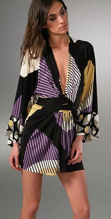 ISSA Kimono Mini Dress