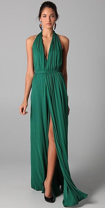 Green Halter Dress