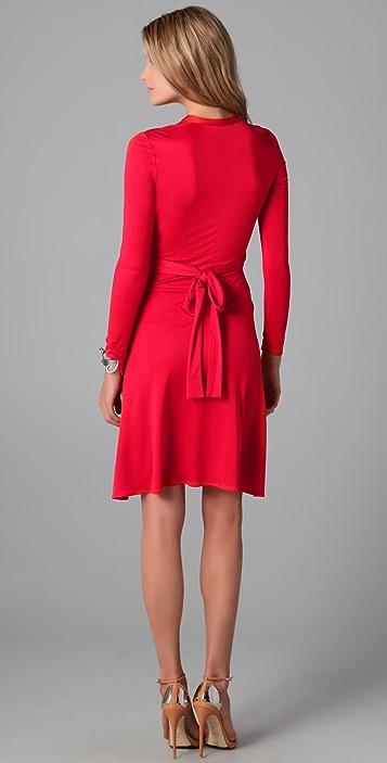 ISSA Long Sleeve Wrap Dress