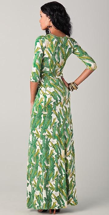 ISSA V Neck Long Dress
