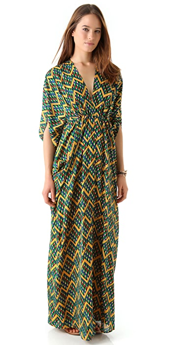 ISSA Chiffon Caftan Maxi Dress