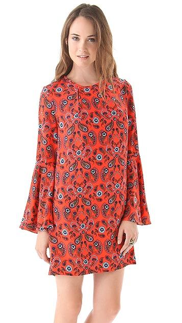 ISSA Flare Sleeve Printed Dress