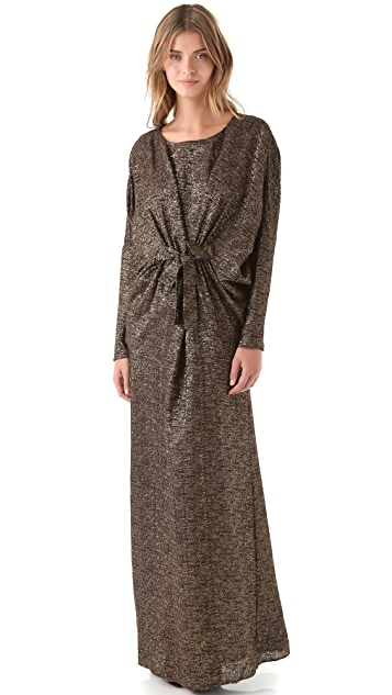 ISSA Metallic Dolman Gown