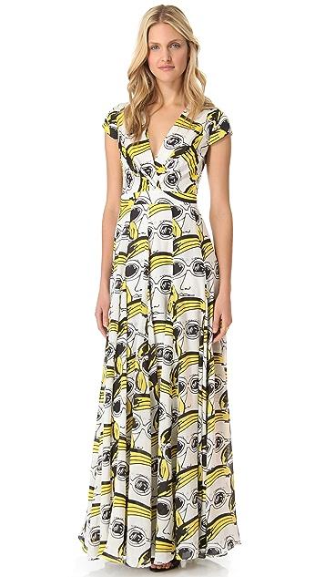 ISSA Short Sleeve Maxi Dress