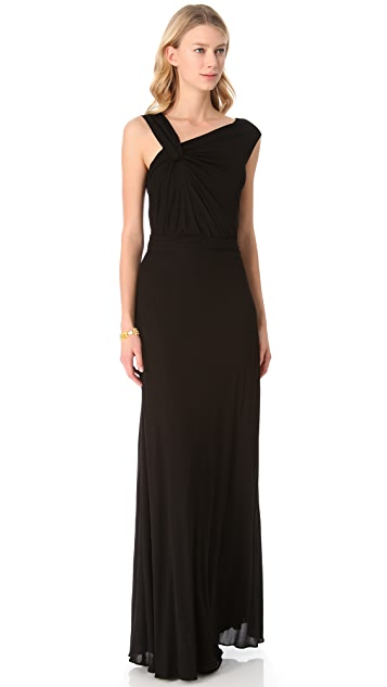 ISSA Asymmetrical Shoulder Gown