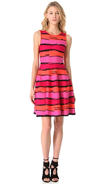 ISSA Jacquard Sleeveless Dress