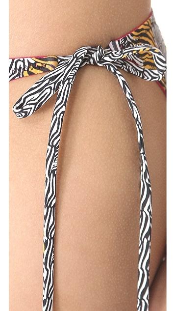 ISSA Zebra Candy Print Bikini Bottoms
