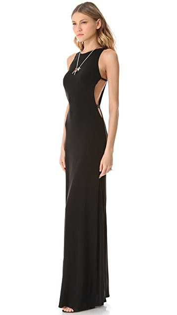 ISSA Cutout Sleeveless Gown