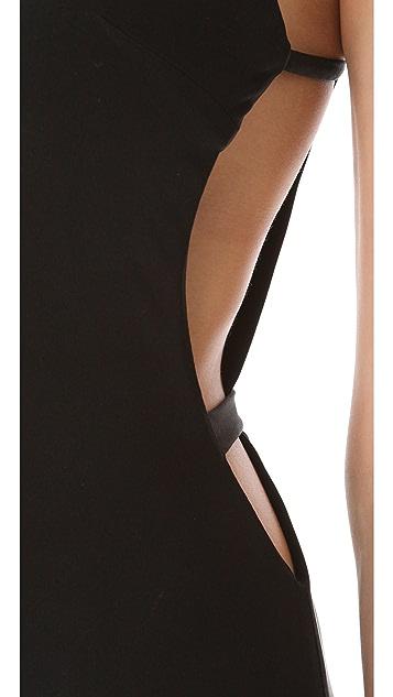 ISSA Cutout Sleeveless Gown
