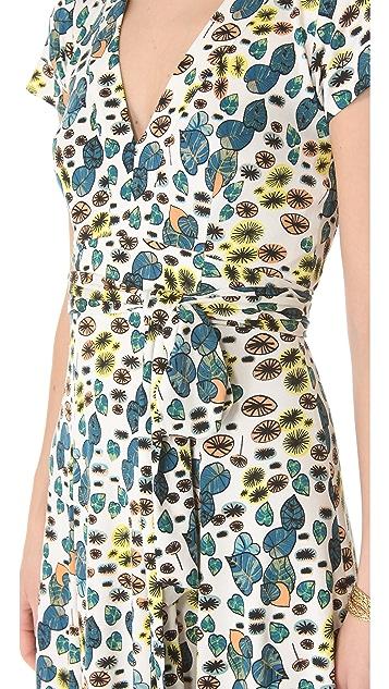 ISSA V Neck Dress