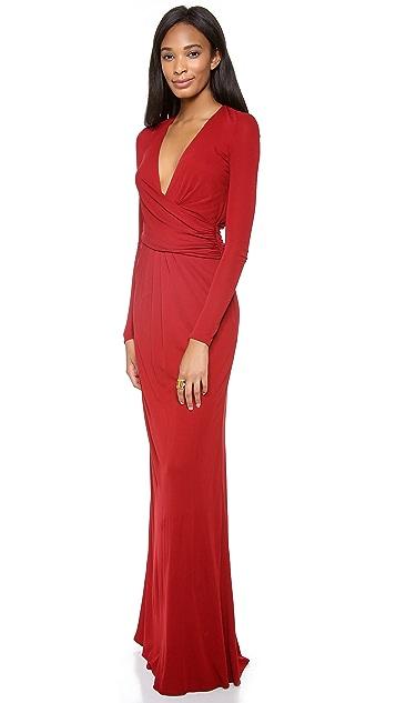 ISSA Cross Front Maxi Dress
