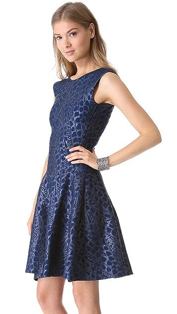 ISSA Metallic Ribbed Dress