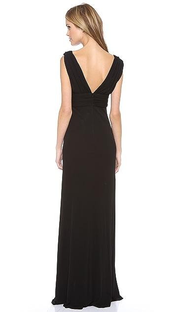 ISSA V Neck Sleeveless Gown