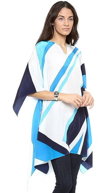 ISSA Silk Poncho