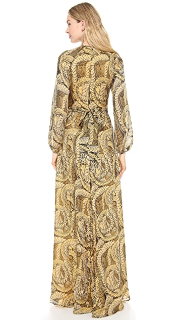 ISSA Bell Sleeve Gown