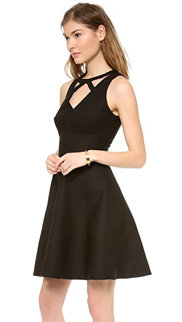 ISSA Cutout Neck Dress