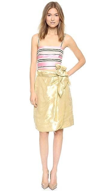 ISSA Constance Organza Skirt
