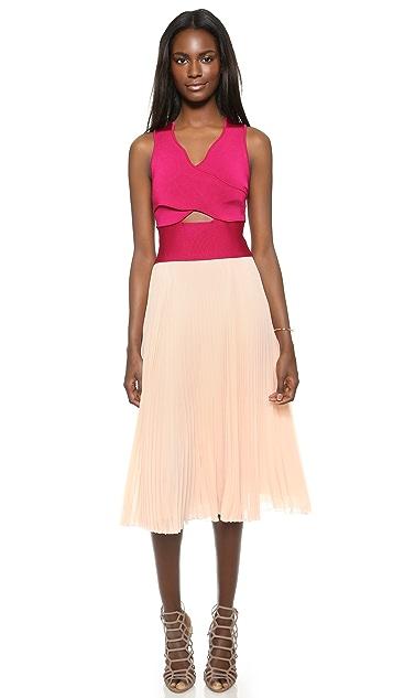 ISSA Vienna Pleated Dress
