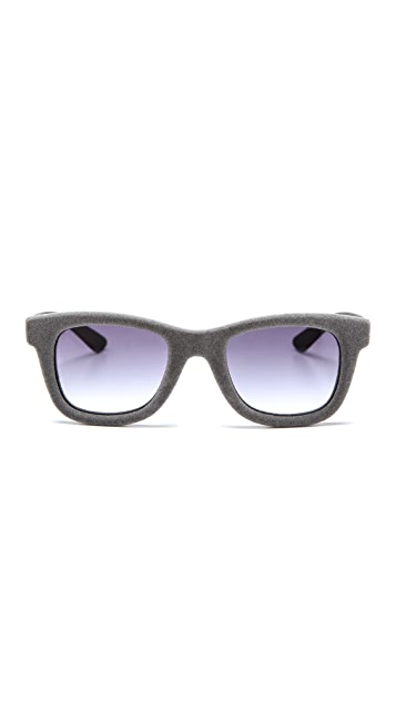 Italia Independent Square Velvet Sunglasses