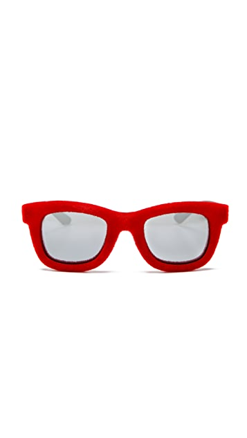 Italia Independent Square Extra Velvet Sunglasses