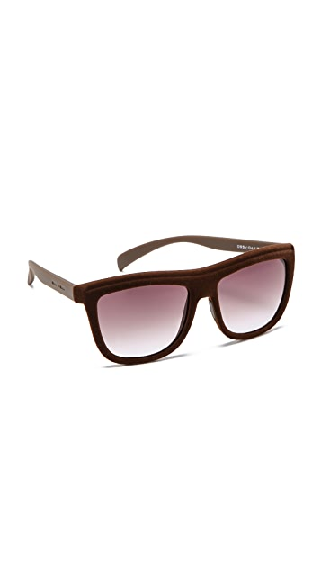 Italia Independent Velvet Flat Top Sunglasses
