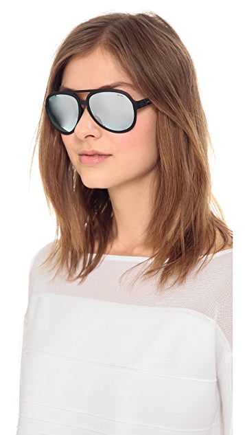 Italia Independent Sport Aviator Sunglasses with Mirrored Lenses
