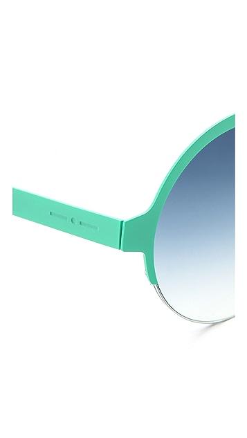 Italia Independent Round Metal Sunglasses