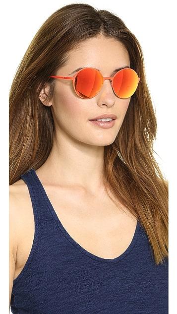 Italia Independent Round Thin Metal Sunglasses