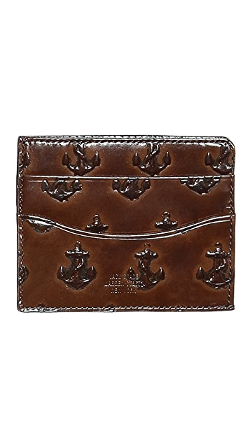 Jack Spade Embossed Anchor Bill Flap Wallet