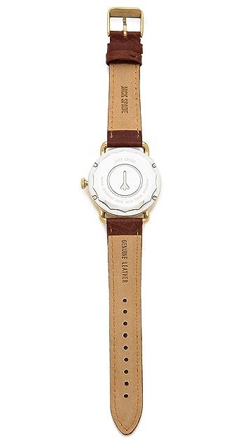 Jack Spade Buckner Black & Gold Watch