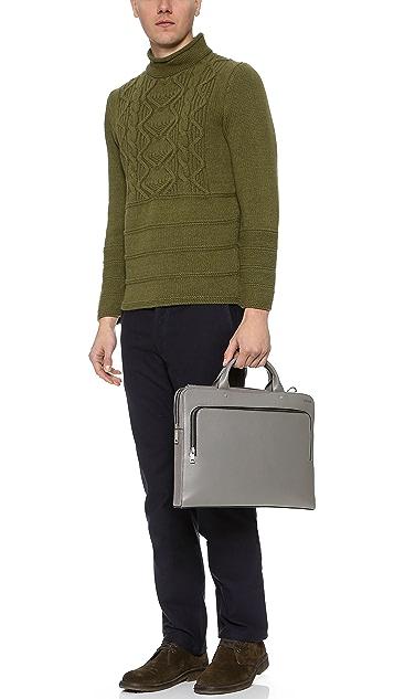 Jack Spade Grant Leather File Briefcase