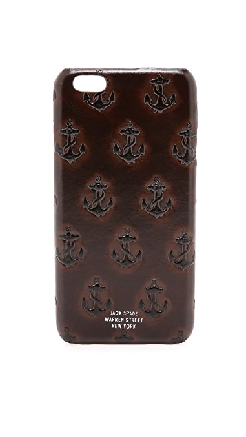 buy popular c66e7 c0201 Embossed Anchor iPhone 6 Plus Case