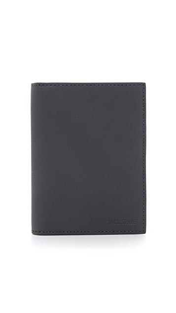 Jack Spade Barrow Leather Passport Wallet