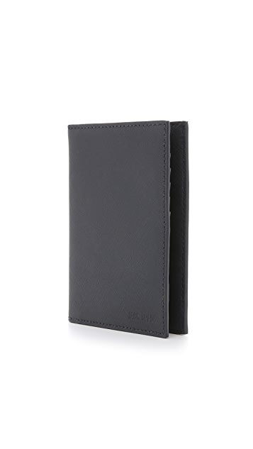 Jack Spade Barrow Leather Passport Wallet