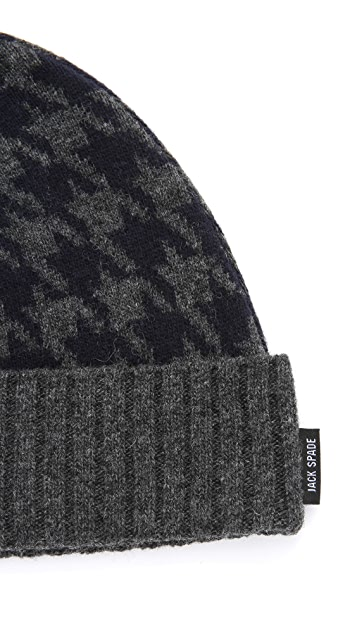 Jack Spade Beacon Houndstooth Watchman Hat