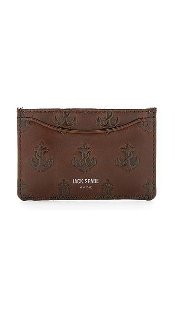 Jack Spade Embossed Anchor Card Wallet