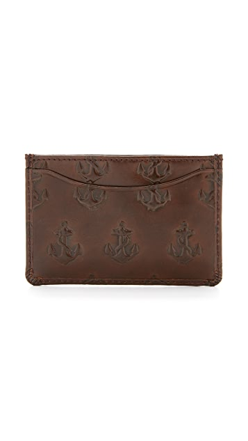 Jack Spade Embossed Anchor Card Wallet