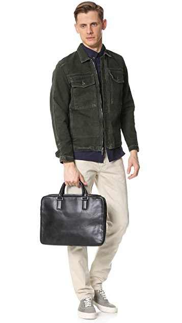 Jack Spade Fulton Leather File Briefcase