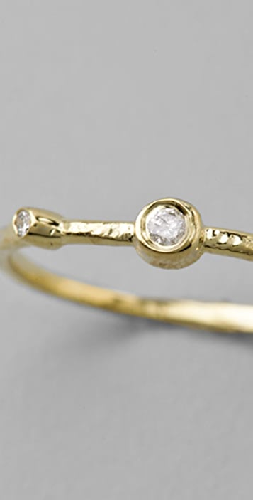 Jacquie Aiche Double Diamond Bezel Waif Ring